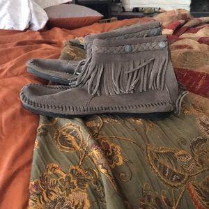 Minnetonka tassel booties
